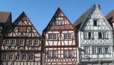 Fachwerkhäuser der Stadt Ochsenfurt.